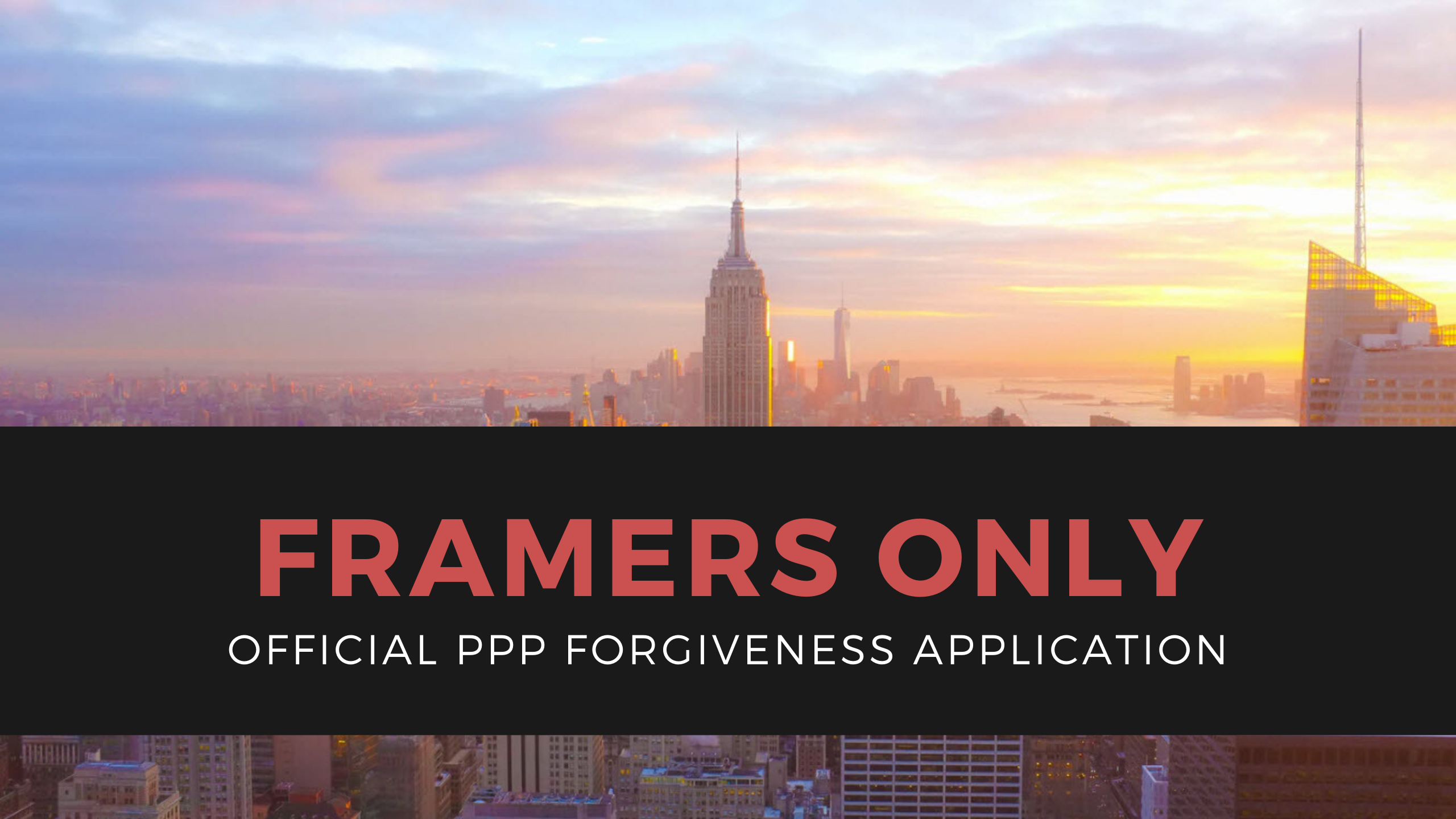 PPP Paycheck Protection Program Loan Forgiveness Application